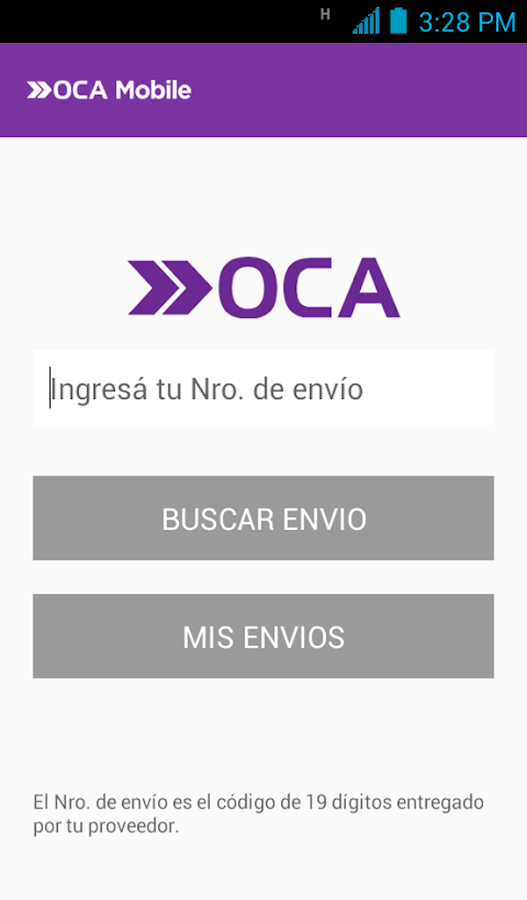 OCA Mobile- screenshot