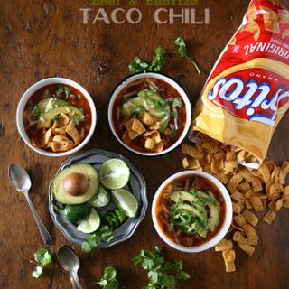Slow Cooker Beef Chorizo Taco Chili.