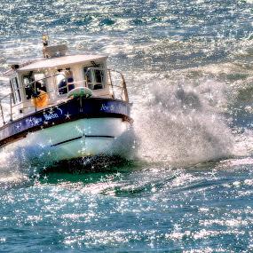 Blue Moon by Nigel Finn - Transportation Boats ( waves, sea, ocean, boat, float )