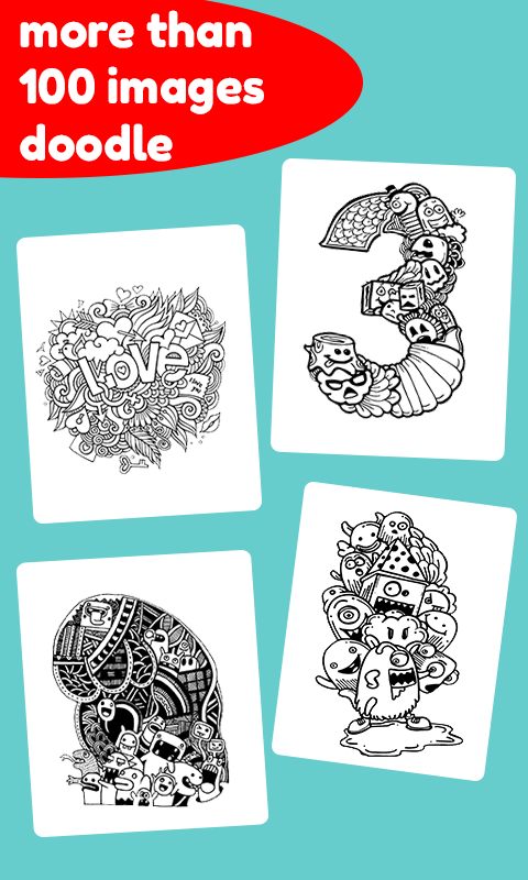 Doodle Coloring Book Free Screenshot