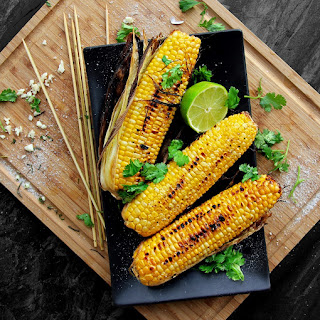 Grilled Cilantro-Lime Corn on the Cob