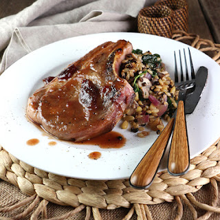 Pork Chops in Fig Cabernet Sauce