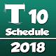 T 10 Cricket League Schedule 2018 Android apk
