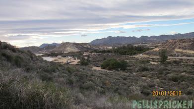 Photo: Utsikten var vacker, havet bakom kullen och ...