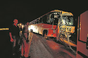 File image of a bus being towed following an accident on the Moloto road.