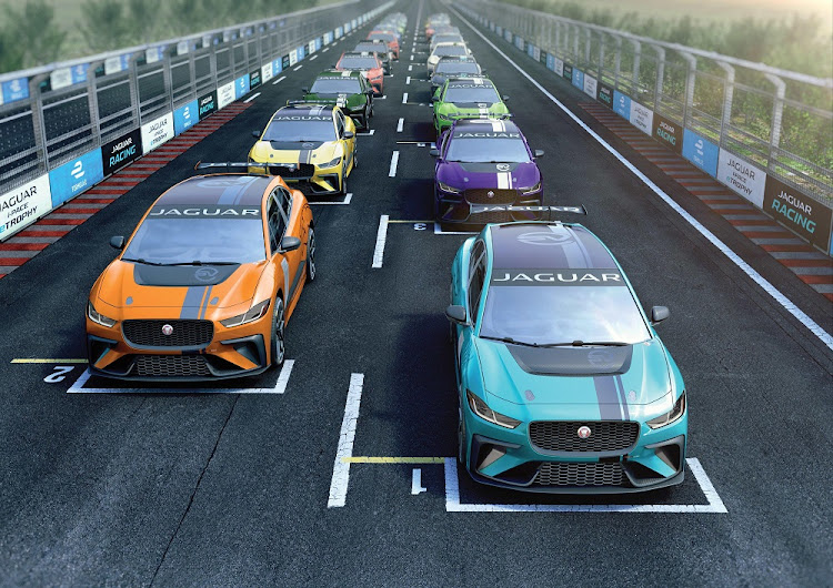 Jaguar has turned its I-Pace electric vehicle into a full race car. Picture: NEWSPRESS UK