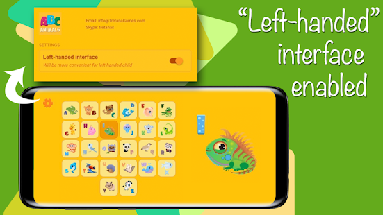 Learn English alphabet ABC with Animals, no ads - náhled