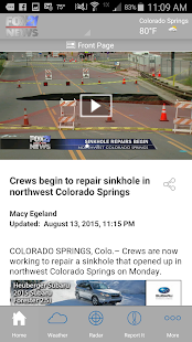 FOX21 News | KXRM- screenshot thumbnail