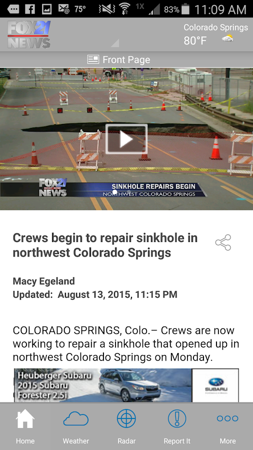 FOX21 News | KXRM- screenshot
