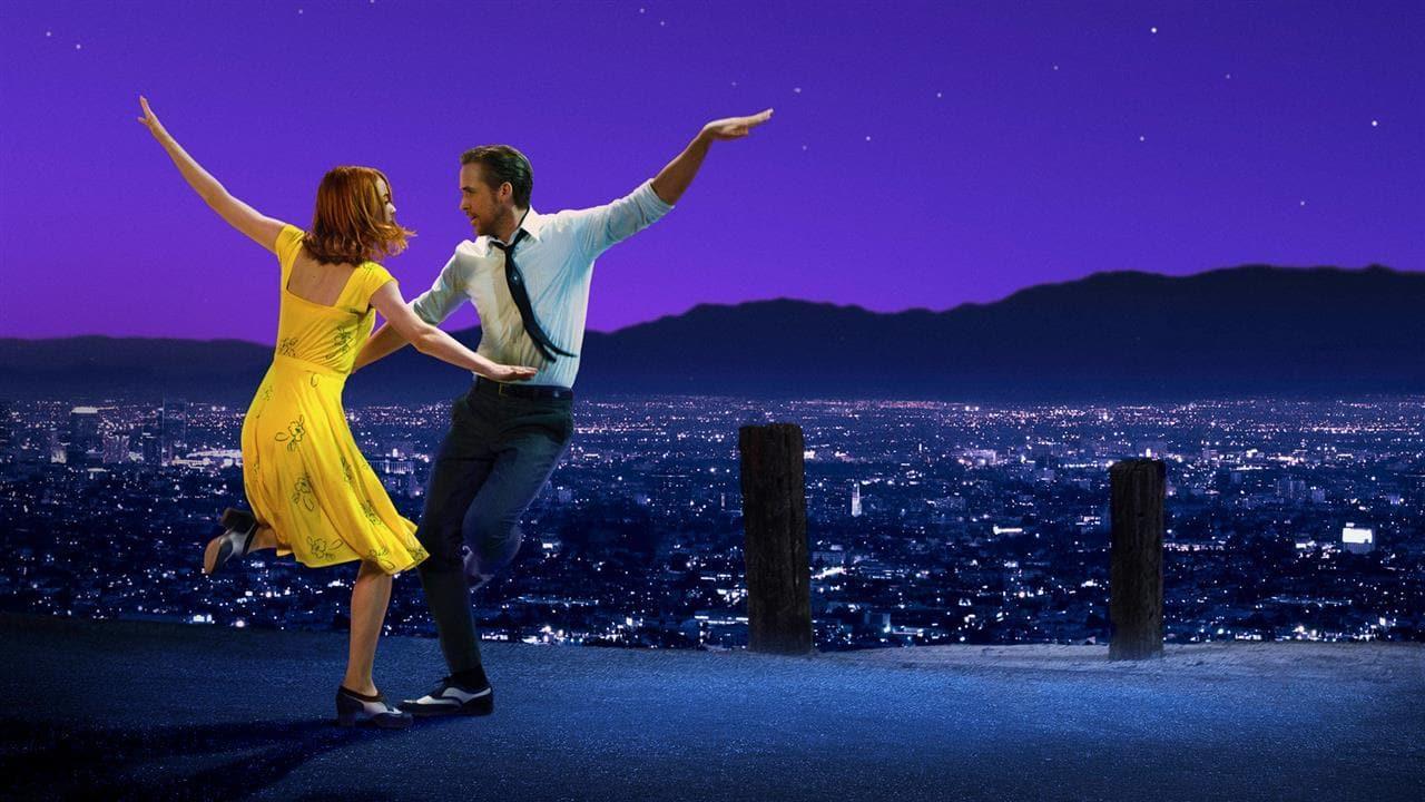 Image of Emma Stone and Ryan Gosling dancing in La La Land
