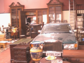 Photo: 30yr old Rolls Royce in amongst the antiquities at the Big Chair Co. I was surprised by the rare quality items there, tucked away down the South St. Perhaps more definitive antique than collectables, one can imagine it's variety giving rise to surprise bargains.