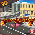 Hoverboard Flying Delivery 3D Icon