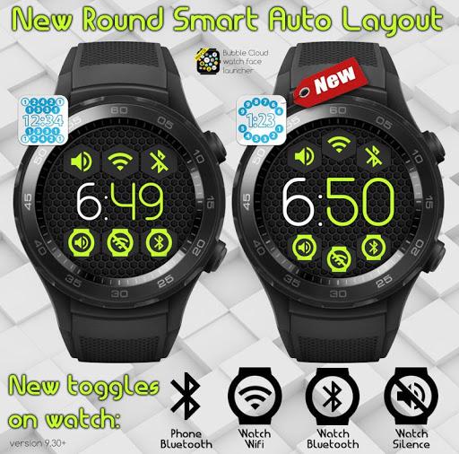 Bubble Cloud Wear Launcher Watchface (Wear OS) 9.39 screenshots 9