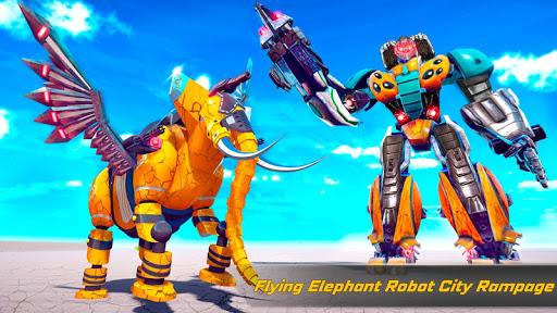 Flying Elephant Robot Transform: Flying Robot War 1.1.1 Screenshots 12
