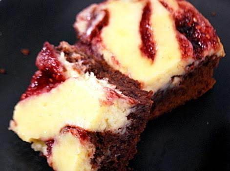 Raspberry Cream Cheese Brownies Recipe
