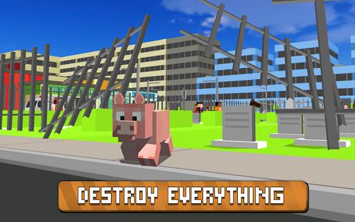 Blocky City Pig Simulator 3D 1.10 screenshots 2