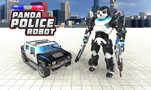 Panda Robot Car Game: Police Car Robot Transform 3