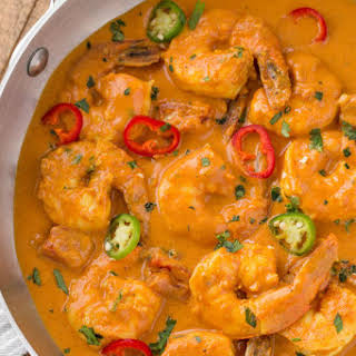 Indian Shrimp Curry.
