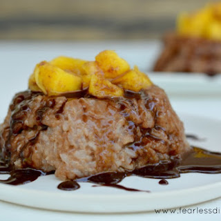 Chocolate & Coconut Sticky Rice with Mango