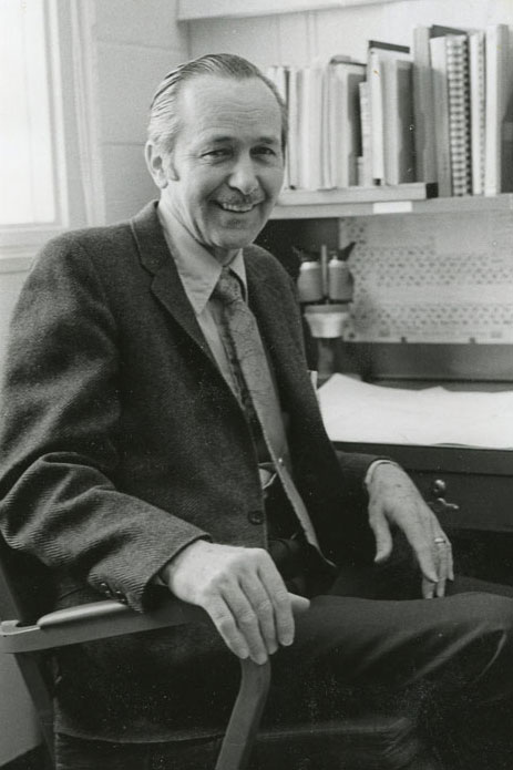 John in his office at Sandia National Laboratory