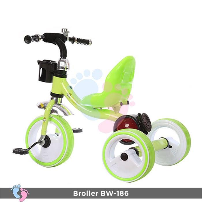 Xe đạp 3 bánh Broller XD3-186 có đèn bánh xe 9