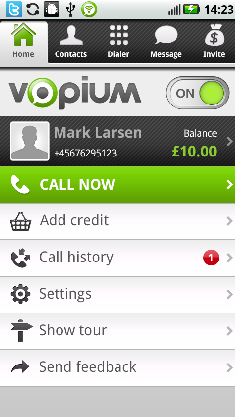 Vopium - Cheap Intl. Calls- screenshot