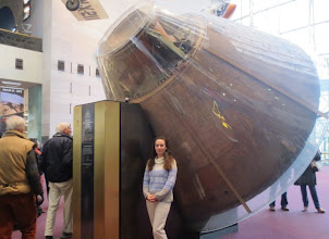 "Photo: Apollo 11 Capsule, call sign ""Columbia"" ... haven't seen this sturdy ole girl since I was 7 years old! :)"
