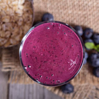 Blueberry Smoothie.