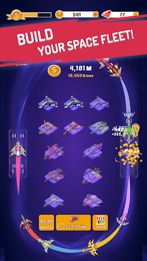 Merge Spaceships - Best Idle Space Tycoon 1.0.2 screenshots 1