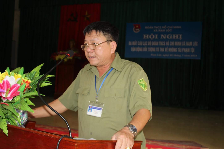 Đồng chí Nguyễn Trọng Duẩn, Trưởng Công an xã Nam Lộc thông qua quy chế hoạt động của mô hình