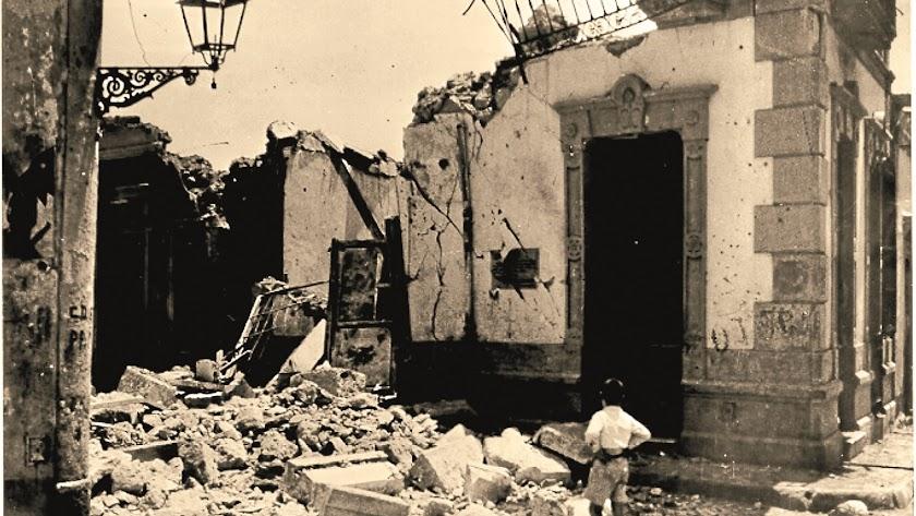 Muchas viviendas quedaron destrozadas ese 1 de mayo de 1937.