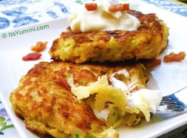 Zucchini Bacon & Potato Pancakes Recipe
