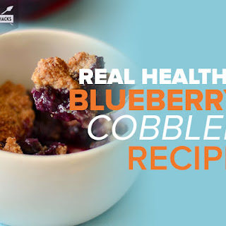 Healthy Blueberry CobblerRecipe by Diana Keuilian