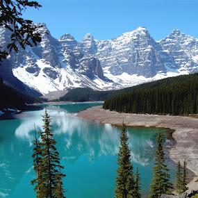 The Beautiful Moraine Lake by Anastasiya Manuilov - Landscapes Mountains & Hills ( canada, banff )