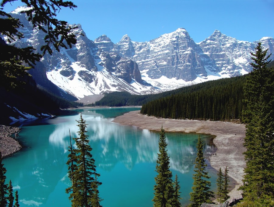 The Beautiful Moraine Lake by Anastasiya Manuilov - Landscapes Mountains & Hills ( canada, banff )