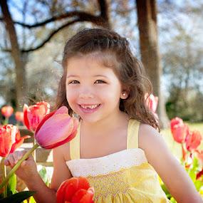 by Michiyo Clark - Babies & Children Child Portraits ( family/children photograher, dallas photographer, tulips, grapevine botanical garden, michiyo c photography )