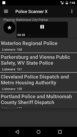 Police Scanner X screenshot for Android