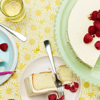 Vanilla-Buttermilk Cake With Raspberries and Orange Cream-Cheese Frosting