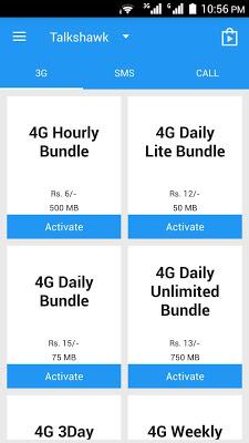 Telenor Packages 3G/4G - screenshot