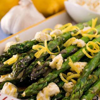 Asparagus with Lemon and Feta
