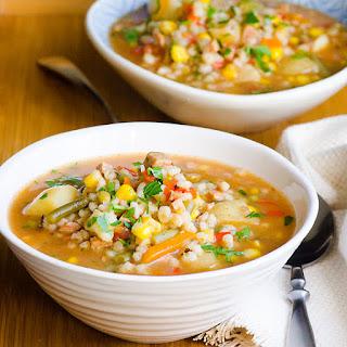 Barley and Sausage Soup