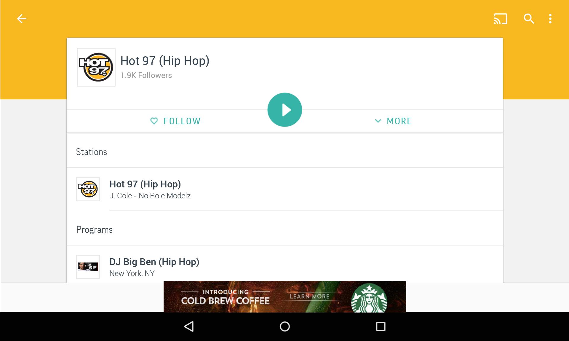 TuneIn Radio - Radio & Music screenshot #10