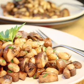 Mushroom & White Bean Saute.