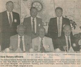 Photo: Frank Knight, Bill Parker, Gary Wright, President Eugene Gerard, President-Elect Frank Pryatel, Joe Mongolier - June 26, 1991