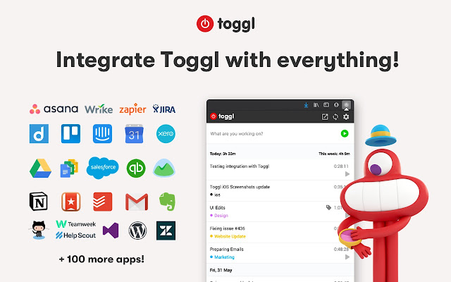 Toggl Button: Productivity & Time Tracker Screenshot