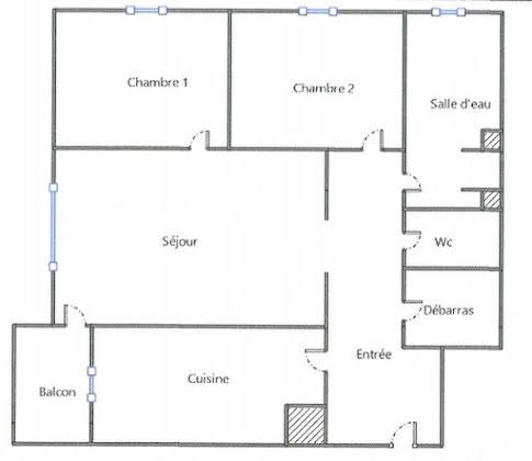 Vente appartement 3 pièces 60,95 m2