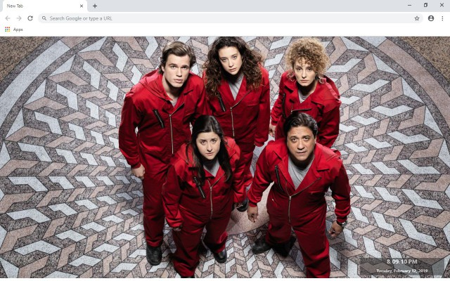 La Casa De Papel New Tab
