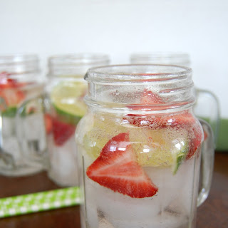 Strawberry Lime Boozy Cooler.