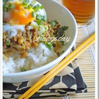 Bean Sprout and Natto Dry Curry Rice Bowl