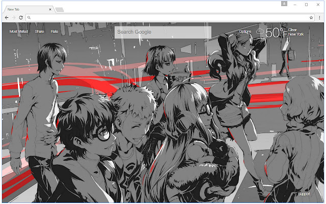Persona 5 Wallpaper HD New Tab Themes